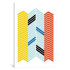 """East Urban Home Chevron Graphic Art on Wrapped Canvas Size: 60"""" H x 40"""" W x 1.5"""" D"""