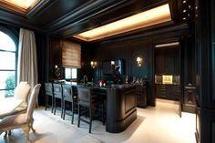Beautiful black kitchen!