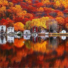 Autumn colors in Seymour, Connecticut, USA.