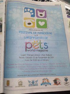 Hoy en @panamaamerica el anuncio de nuestro Festival de Mascotas y Lanzamiento de #PetsWorldMagazine   No puedes faltar este sábado en el Parque Urracá de 10am y 1pm