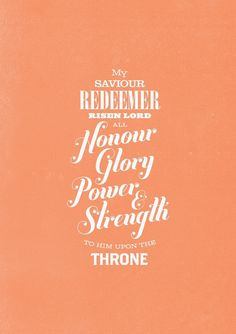 To Him upon the Throne...