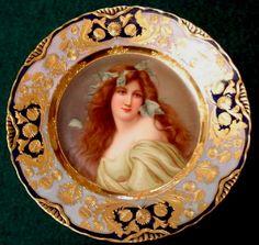 Wagner , Royal Vienna Porcelain (Austria) — Portrait Plate 'Ivy'  (650x616)
