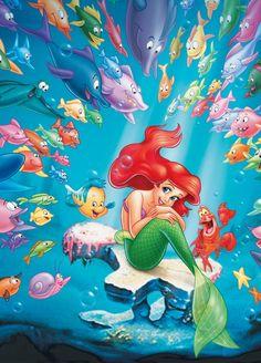 47 Ideas wall paper disney little mermaid wallpapers for 2019 Ariel Disney, Disney Pixar, Princesa Ariel Da Disney, Disney Babys, Disney Princess Art, Cute Disney, Baby Disney, Disney Art, Disney Movies