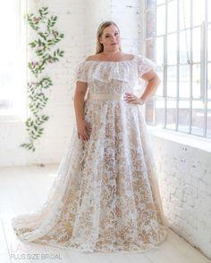 NEEEEEW design💖💖💖 Beatiful new design from Lasabina Plus Size Bridal! by Plus Size Bridal Denmark Girls, Plus Size Wedding, Bridesmaid Dresses, Wedding Dresses, More Photos, News Design, Plus Size Dresses, Bridal, Lace