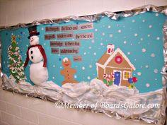 He changeth the seasons Seasonal Bulletin Boards, Church Bulletin Boards, Preschool Bulletin Boards, Christmas Board Decoration, Catholic Schools Week, Sunday School, School Week, Elementary Schools, Board Ideas