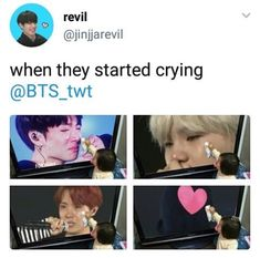 BTS Wings Tour Final crying