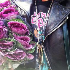 Jennifer Fisher in her custom Jennifer Fisher Jewelry charm necklace