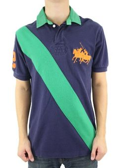 Polo Ralph Lauren Men's Navy Blue w/Green Stipe « Clothing Impulse