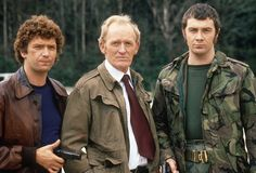 The Professionals. Bodie and Doyle. Lewis Collins winked at me once in Golders Green High Street! The Professionals Tv Series, British Drama Series, Uk Tv Shows, Bond, Tv Detectives, My Childhood Memories, 1970s Childhood, Tv Actors, Best Series