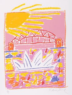 Sydney Takashimaya, 1991 :: Ken DONE :: Grafton Regional Gallery Collection Online Oil Pastel Drawings, Art Drawings, Pastel Crayons, Abstract City, Interior House Colors, National Art, Crayon Art, Victorian Decor, Illustration Art