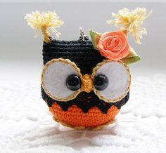 Llavero buho crochet búho llavero amigurumi buho juguete