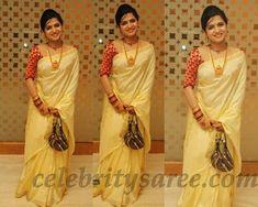 Off_White_Pure_Silk_Sari_at_Sneha_Wedding.jpg (1600×1280)