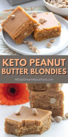 What's better than keto peanut butter blondies with sugar free peanut butter chips and a rich peanut butter glaze? That's right, nothing is better! Peanut butter lovers, rejoice, this is the keto blondie recipe for you.