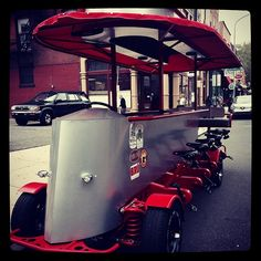 We are taking this bad out tonight! This is Ben Franklin, the new pedicycle in town - Now available for more nighttime bookings & special tours! #bigredpubcrawl #bigredhistorytour #benfranklin @mcgillinsoldealehouse