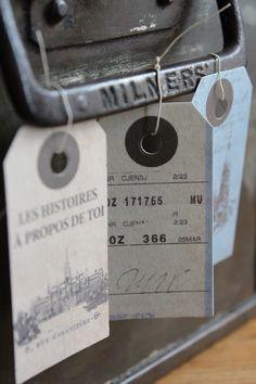 Luggage labels.(attic.©2012)