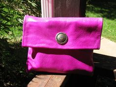 Neon Leather Clutch Set With A Small Matching by MagicPonyLeather, $32.00
