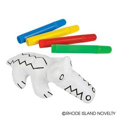 Color in this alligator plush and then wash it to create another design! A fun crafts project for kids! Includes four colored markers. Alligator Party, Craft Projects For Kids, 4th Birthday, Walmart Shopping, Cool Toys, Fun Crafts, Party Favors, Plush, Color