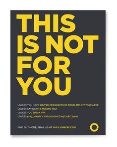 PHP Developer Recruiting Campaign / Guerrilla Marketing | Francesco Colletto | Graphic Design, Art Direction | Ivrea, Torino