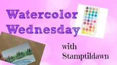 A quick and easy watercolor wash tutorial Easy Watercolor, Your Cards, Cardmaking, Paper Crafts, Social Media, Make It Yourself, Videos, Wednesday, Youtube
