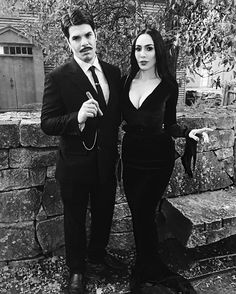 I have always wanted to do this but never did, now I have a proper Gomez. Big thank you to one of my best gal pal @technicolorcutie sewing up my Mortcia gown I patterned and cut out. She always goes above and beyond for those in her life and I am so lucky to have her as a friend. Happy Halloween. #addamsfamily #gomezandmorticia #gomezaddams #morticiaaddams #morticia #michelinepitt #salem #salemmassachusetts