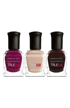 Deborah Lippmann 'True Blood® - Bad Things' Mini Nail Lacquer Set available at #Nordstrom