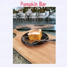Food from around the world to your table! Easy Pumpkin Bars, Cream Cheese Frosting, Check, Blog, Recipes, Food Recipes, Blogging, Rezepte, Recipe