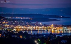 Mytilene by night ⭐️🌟 Beautiful Places In The World, First Photo, First World, Greece, Dolores Park, Night, Day, Travel, Sweet