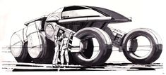 35 Original Concept Art made for Tron - Movie Art - Discover 35 Concept Art made for the Original Tron Movie, featuring artworks from Syd Mead & Moebius. Syd Mead, 70s Sci Fi Art, Futuristic Cars, Futuristic Motorcycle, Retro Futurism, Blade Runner, Concept Cars, Science Fiction, Vehicles