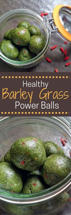 Give your energy levels a little boost with these healthy, delicious Barley Grass Power Balls.