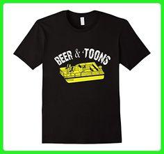 Mens Beer & Pontoons T shirt. Pontooning T shirt Gifts 2XL Black - Food and drink shirts (*Amazon Partner-Link)