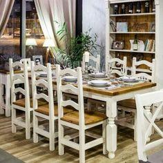 Nábytková sestava do jídelni Table Settings, Chairs, Bar, Furniture, Beautiful, Home Decor, Decoration Home, Room Decor, Place Settings