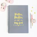 Personalised 'Pitter Patter' Baby Memory Book