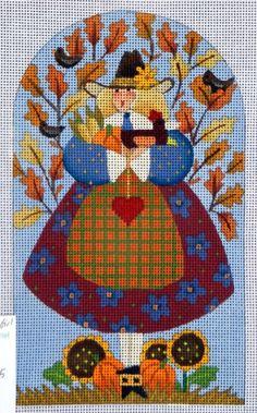 point de croix fille de la ferme - cross stitch farm girl