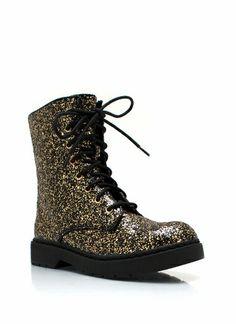 The Glitz Life Combat Boots