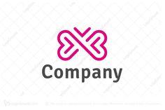 Iconic And Elegant Butterfly Logo Butterfly Logo, Thing 1, Wellness Spa, Symbol Logo, Animal Logo, Lululemon Logo, Brand Identity, Graphic Illustration, Heart Shapes
