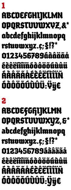 Tipografía Lullius Textura by Damià Rotger, via Behance