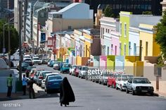 Bokaap Colorful Homes In Cape Town South Africa Stock Photo ...