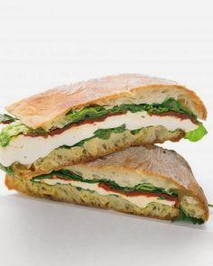Food on Pinterest: Mozarella, tomatoes, Lettuce Healthy Sandwich