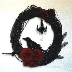 Halloween wreath by suitesistermerry on Etsy, $50.00