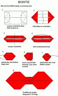 Lovely Origami Diagram For Bowtie
