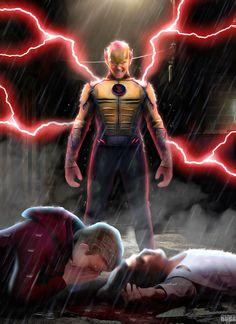 Rebirth Batman # 22 Reverse Flash CW Version by on DeviantArt Flash Hq, Anti Flash, Flash Point, Comic Villains, Comic Book Superheroes, Comic Books, Flash Comics, Dc Comics Art, The Flash Cisco