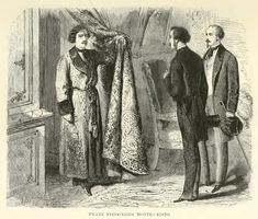 As Franz spoke, he heard the sound of a door turning on its hinges, and almost immediately afterwards the tapestry was drawn aside, and the owner of all these riches stood before the two young men. Albert instantly rose to meet him, but Franz remained, in a manner, spellbound on his chair; for in the person of him who had just entered he recognized not only the mysterious visitant to the Colosseum, and the occupant of the box at the Teatro Argentino, but also his extraordinary host of Monte…