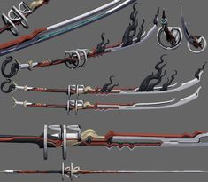 New Sentient Sword Anime Weapons, Sci Fi Weapons, Armor Concept, Weapon Concept Art, Fantasy Katana, Fantasy Sword, Fantasy Weapons, Warframe Art, Armas Ninja