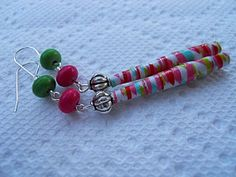 Earrings from Paper Collection. Longer Dangles for by JoJosgems