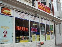 Lincoln's Waffle Shop in DC... right across the street from Ford's Theater and around the corner from E Street Cinema