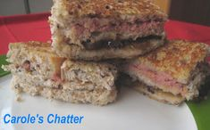 Carole's Chatter: Finger Food: Pate and caramelised onion stack Carole, Piece Of Bread, Caramelized Onions, Finger Foods, Quotations, Sandwiches, Stuffed Peppers, Dishes, Cooking