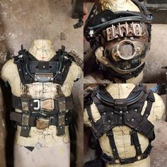 Still need some dirt. But it's getting there! #wastelandweekend #postapocalypse #harness #rig #madmax #torso #straps #chest #costume #cosplay #scrapparts #wastedsaints #needsbones #needsdirt #almost there