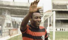 Pelé com a camisa do Flamengo em 1979