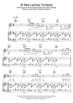 Christophe Willem: Si Mes Larmes Tombent - Partition Piano Voix Guitare (Mélodie Main Droite)