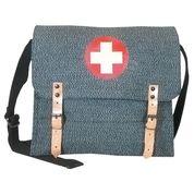 German Army Medics Bag - Salt & Pepper Black